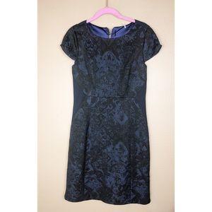 ELIE TAHARI | Lace Overlay Sheath Dress 6